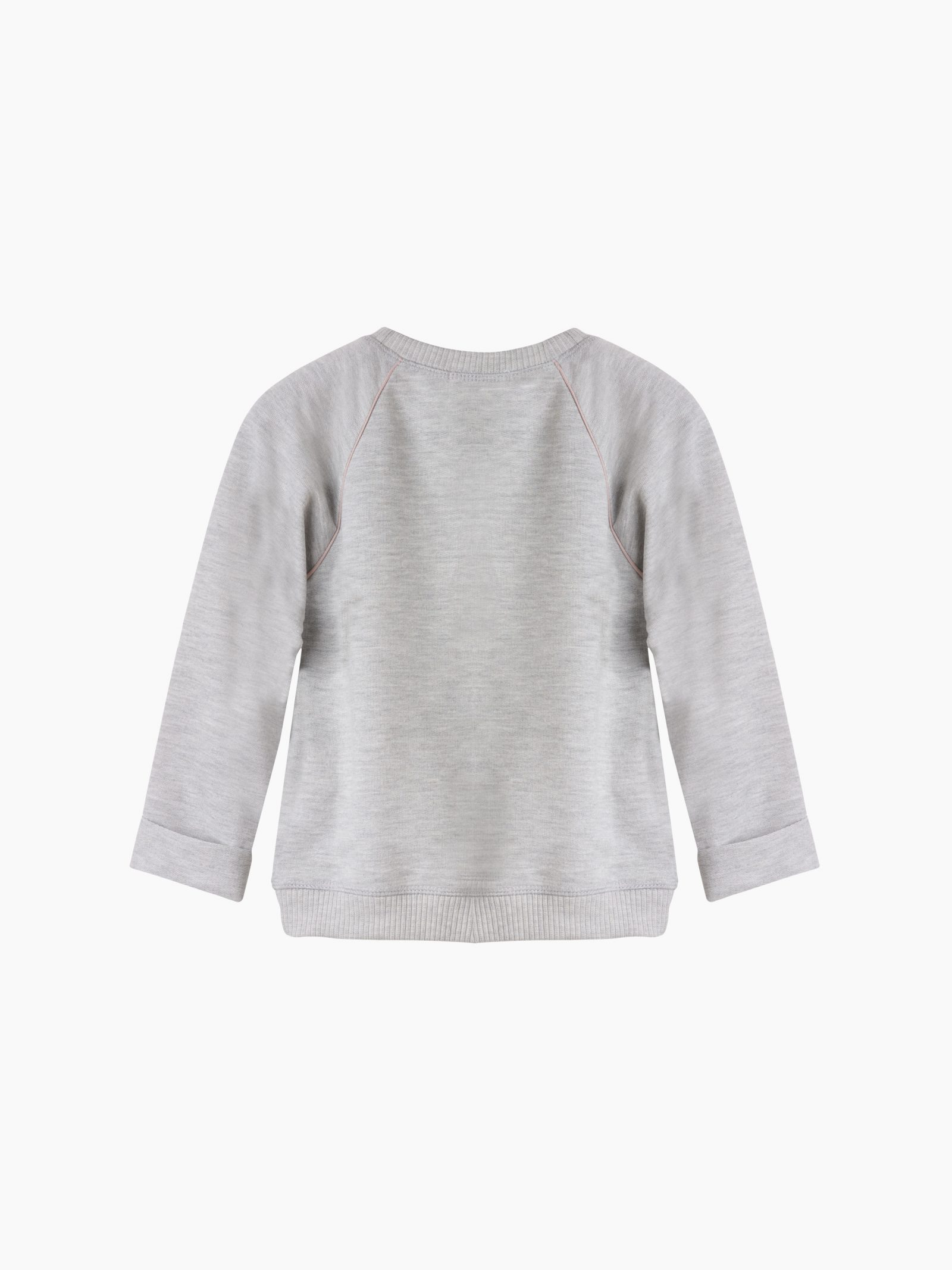 Girls grey and dusky pink slouchy sweatshirt