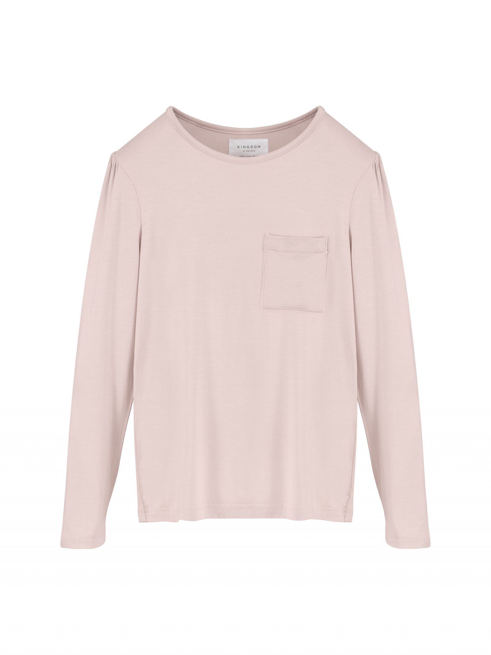 Kate Long Sleeve T Shirt in Dusty Pink - Front