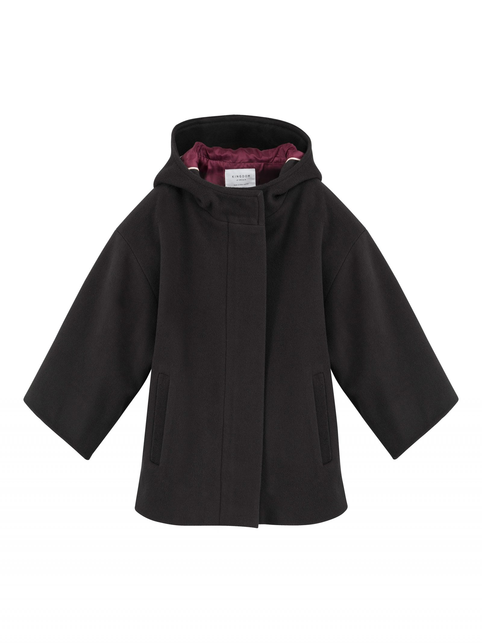 Keira Box Coat in Charcoal - Front
