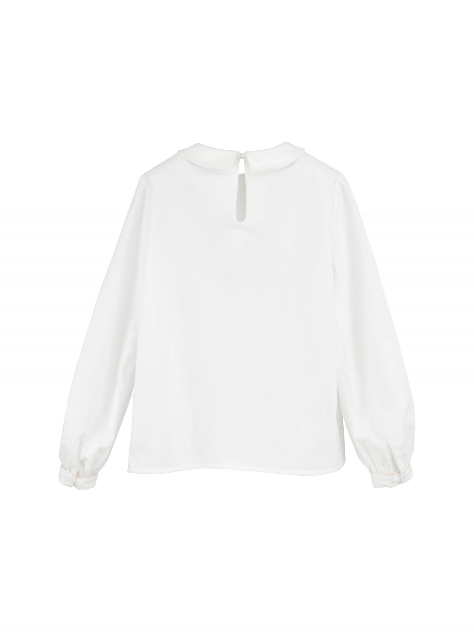 Audrey Long Sleeve Blouse in Ivory - Back