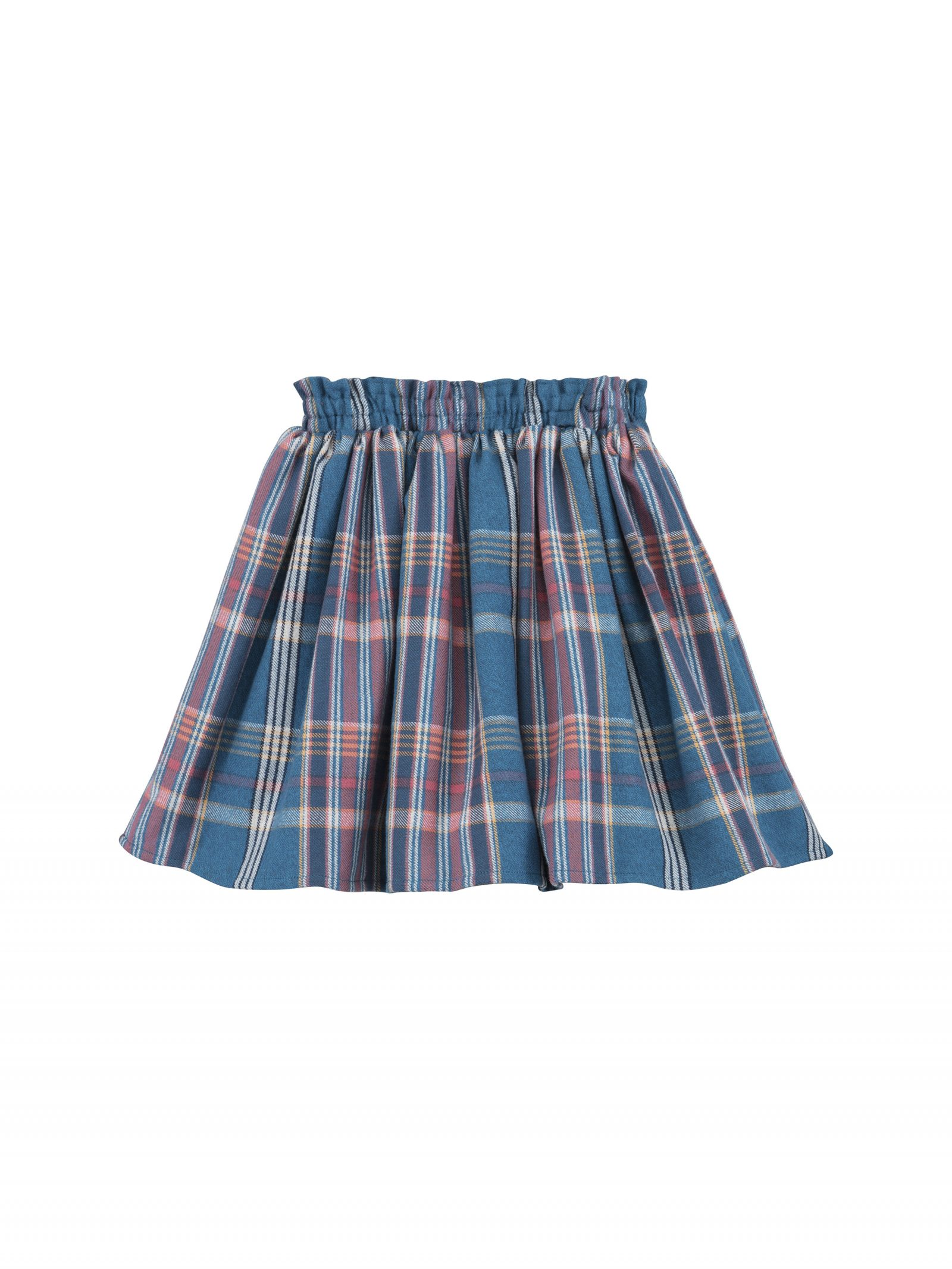 Joanna Plaid Skirt in Teal - Back