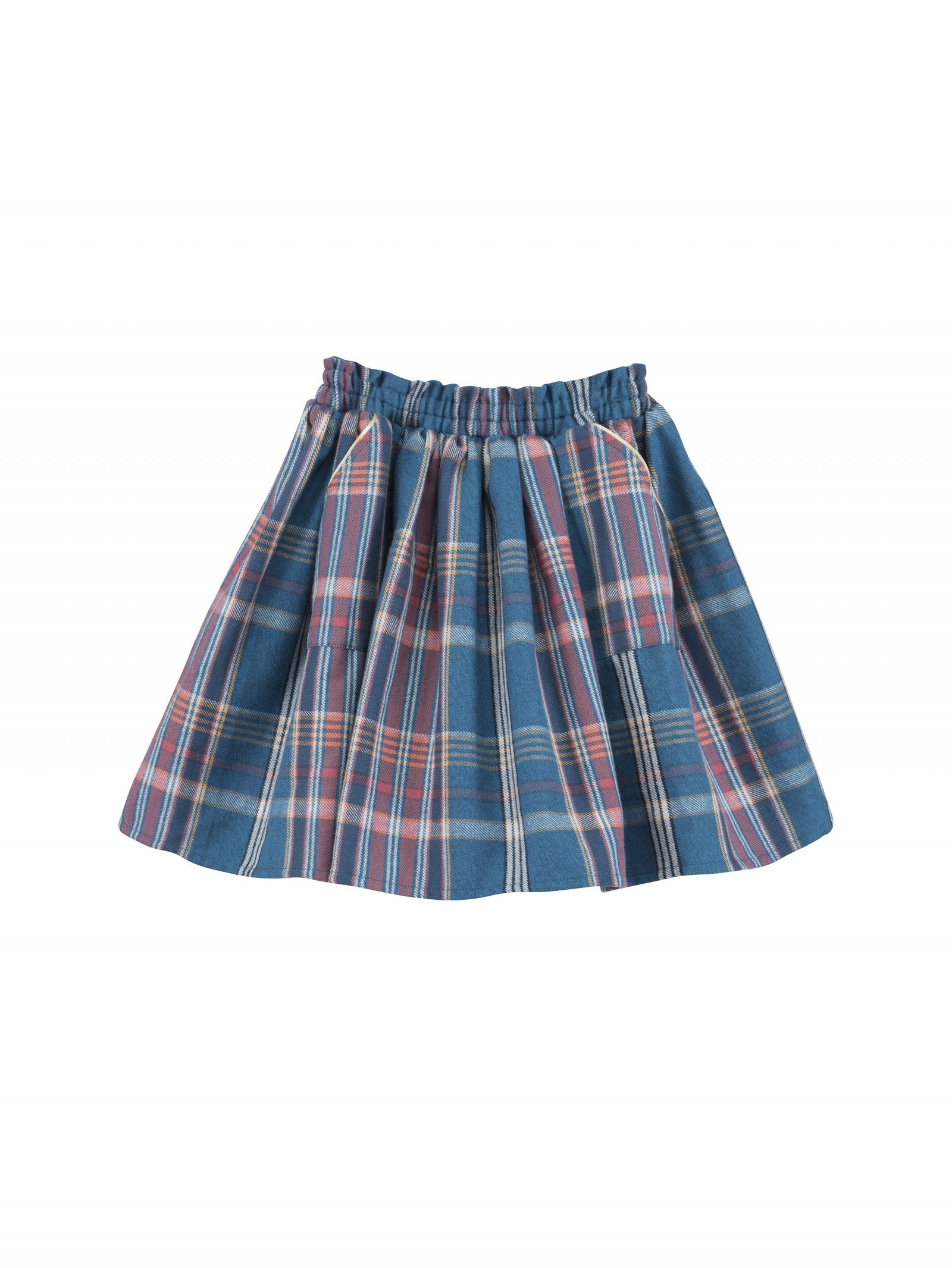 Joanna Plaid Skirt in Teal - Front