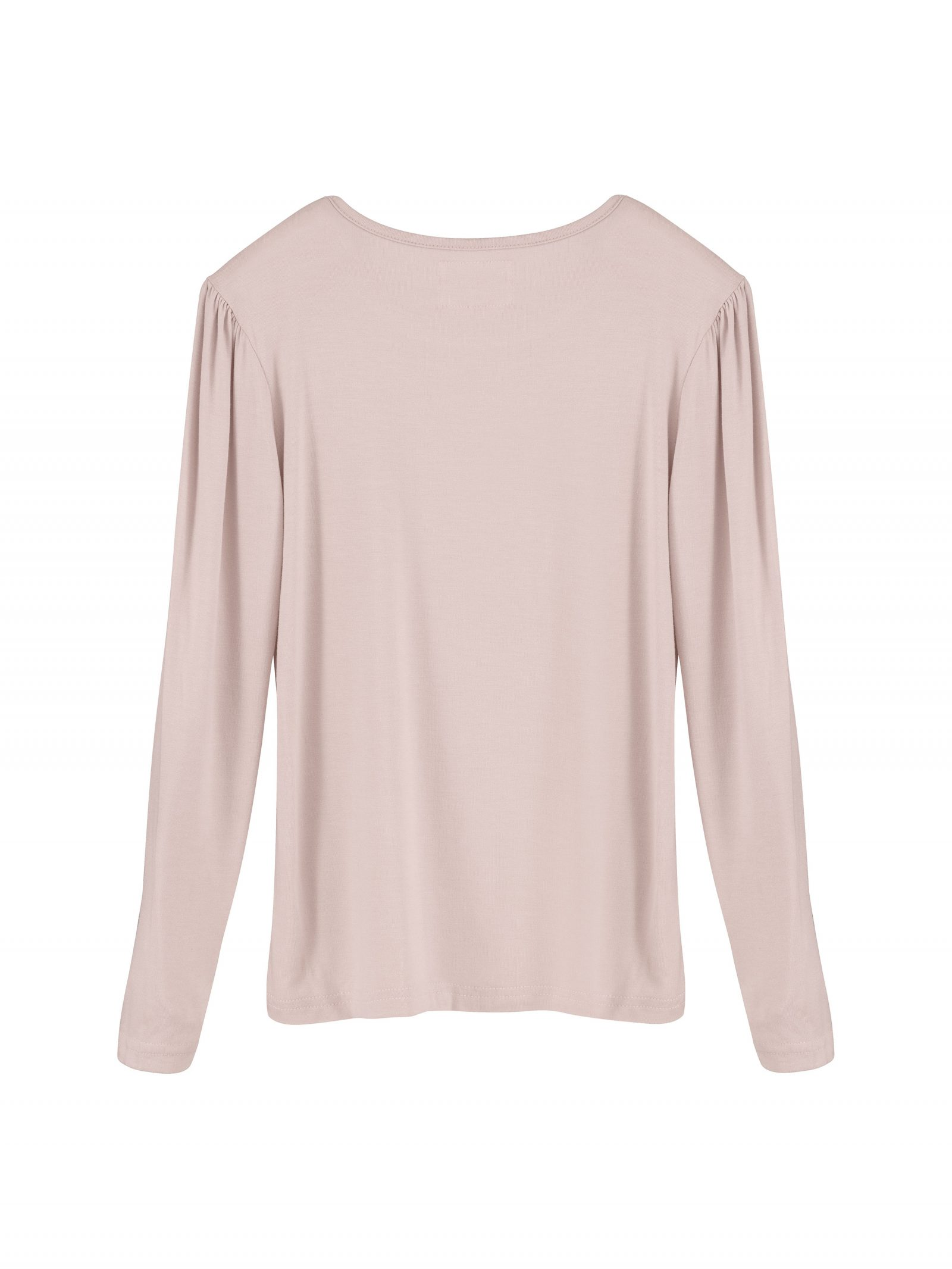 Kate Long Sleeve T Shirt in Dusty Pink - Back