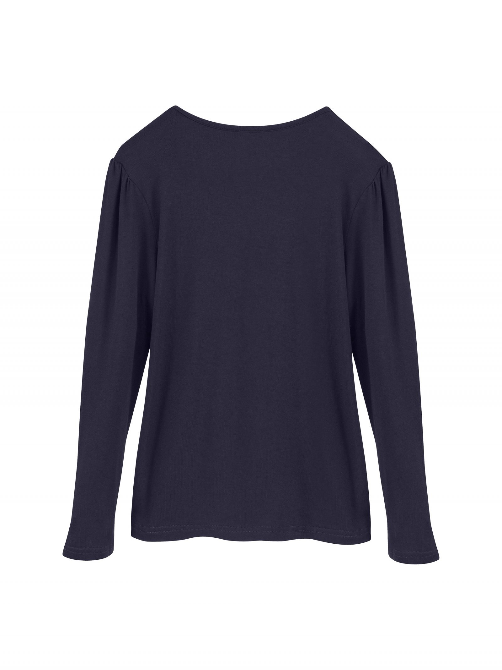 Kate Long Sleeve T Shirt in Navy - Back