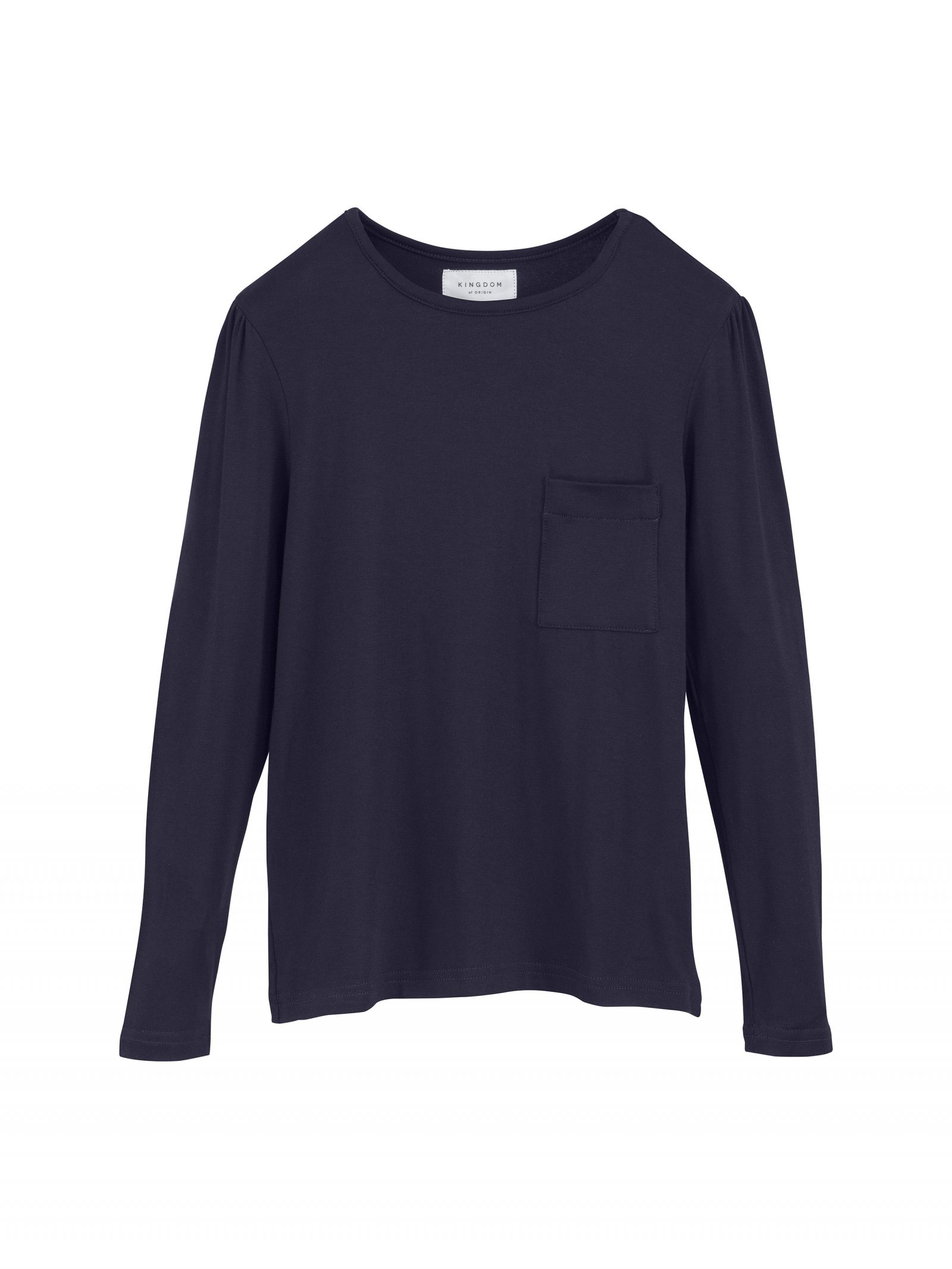 Kate Long Sleeve T Shirt in Navy - Front