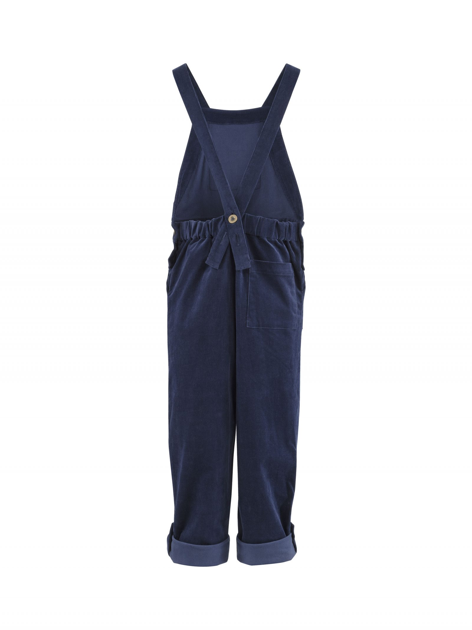 Maggie Dungarees in Blue - Back