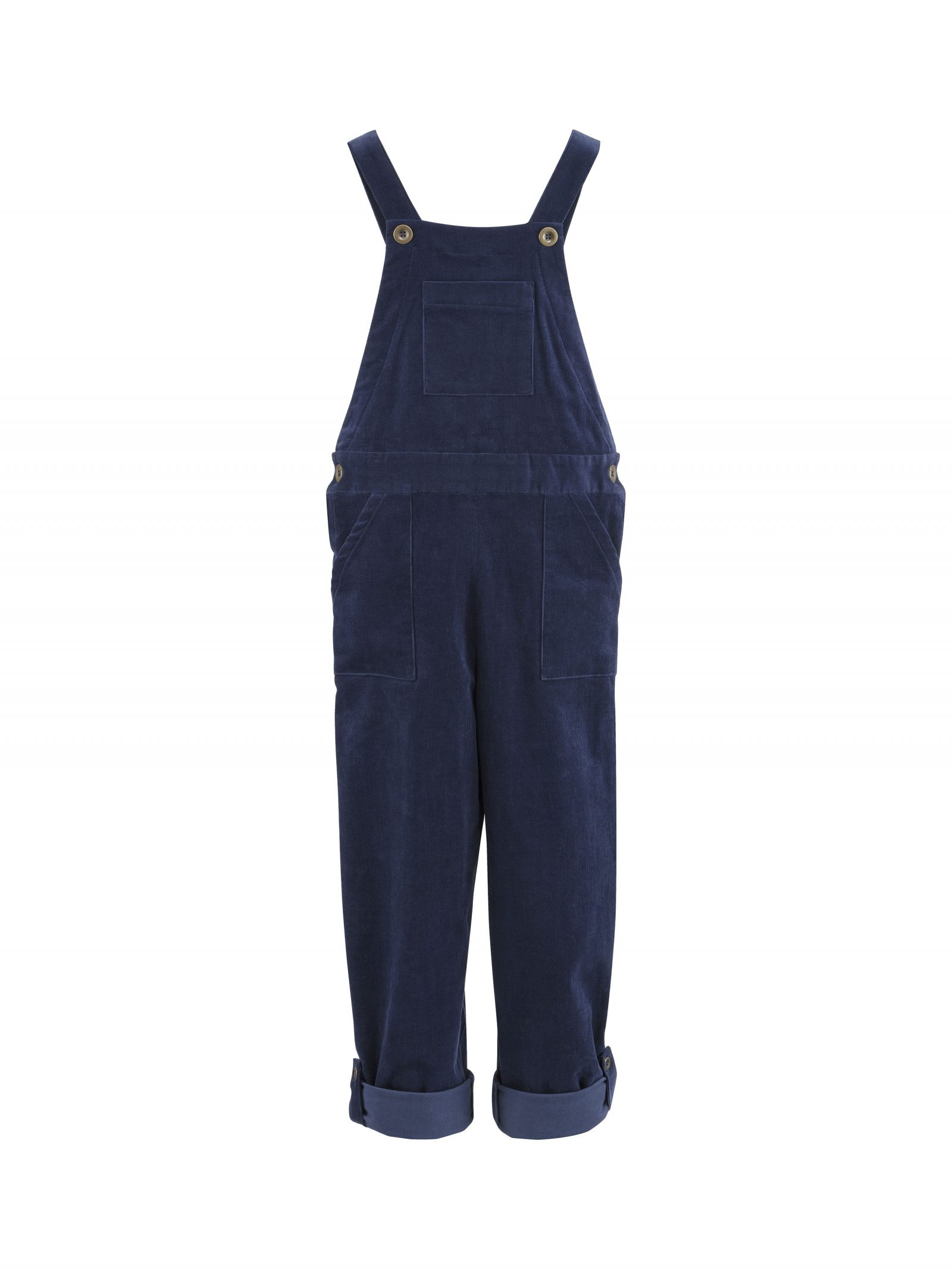 Maggie Dungarees in Blue - Front